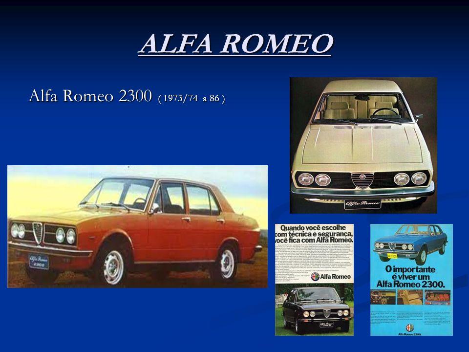 ALFA ROMEO Alfa Romeo 2300 ( 1973/74 a 86 )