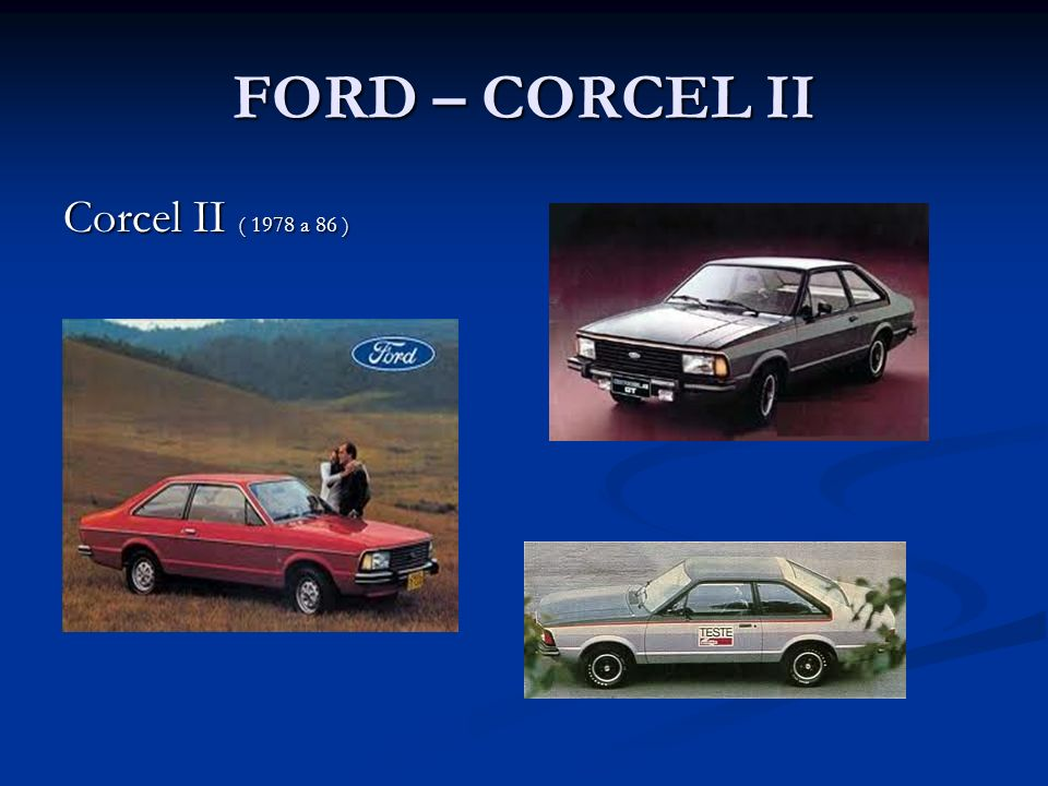 FORD – CORCEL II Corcel II ( 1978 a 86 )
