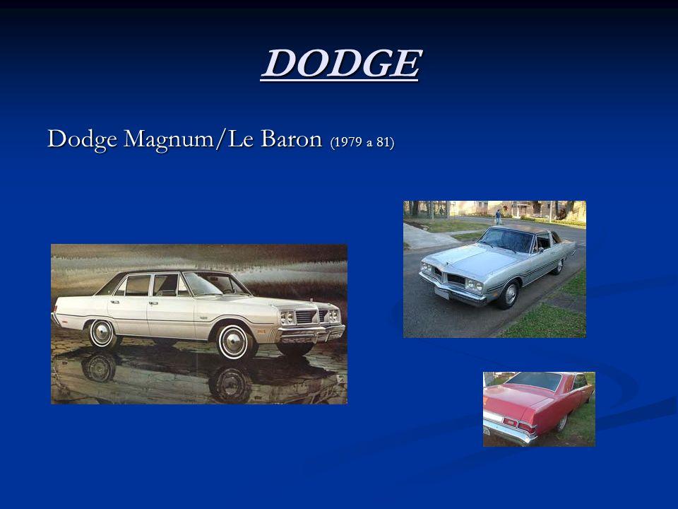 DODGE Dodge Magnum/Le Baron (1979 a 81)
