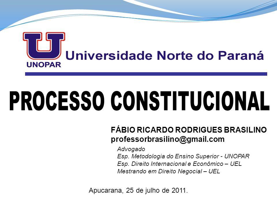 PROCESSO CONSTITUCIONAL