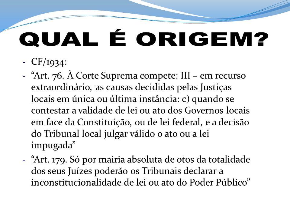 QUAL É ORIGEM CF/1934: