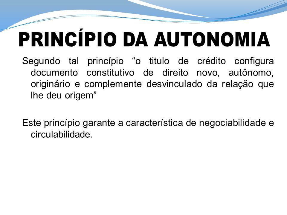 PRINCÍPIO DA AUTONOMIA