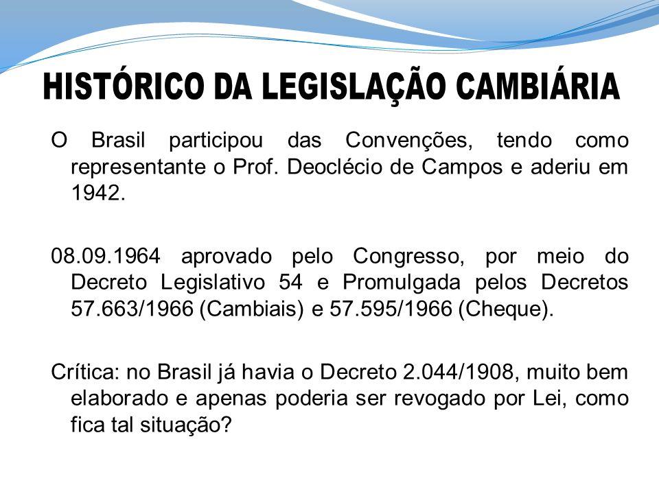 HISTÓRICO DA LEGISLAÇÃO CAMBIÁRIA