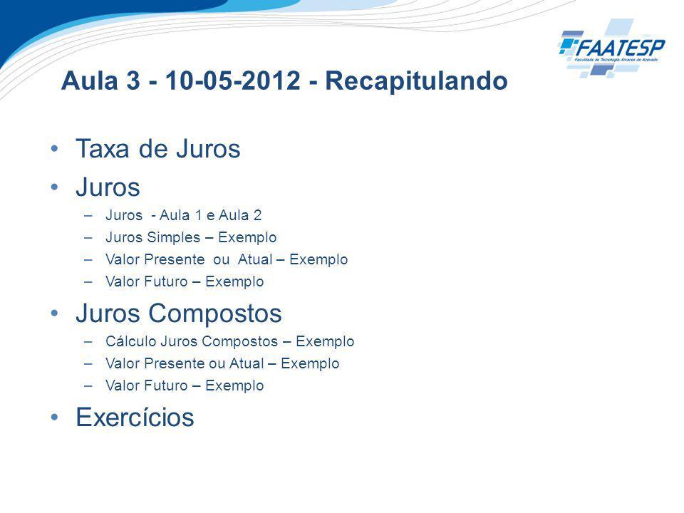 Aula 3 - 10-05-2012 - Recapitulando