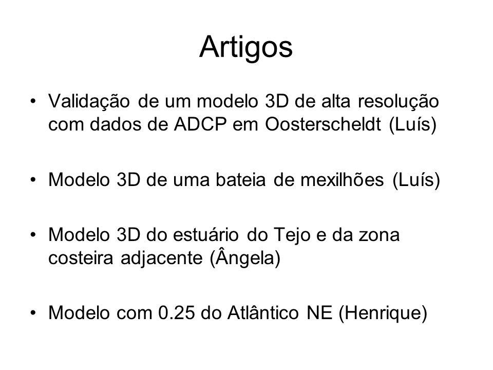 Artigos Validação de um modelo 3D de alta resolução com dados de ADCP em Oosterscheldt (Luís) Modelo 3D de uma bateia de mexilhões (Luís)