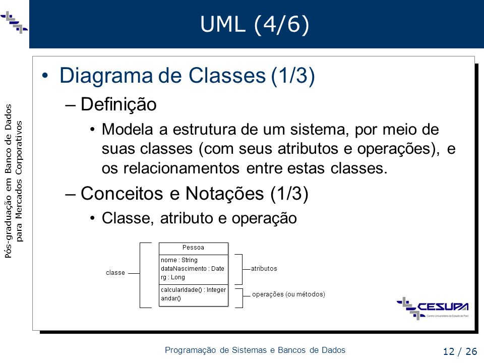 Diagrama de Classes (1/3)