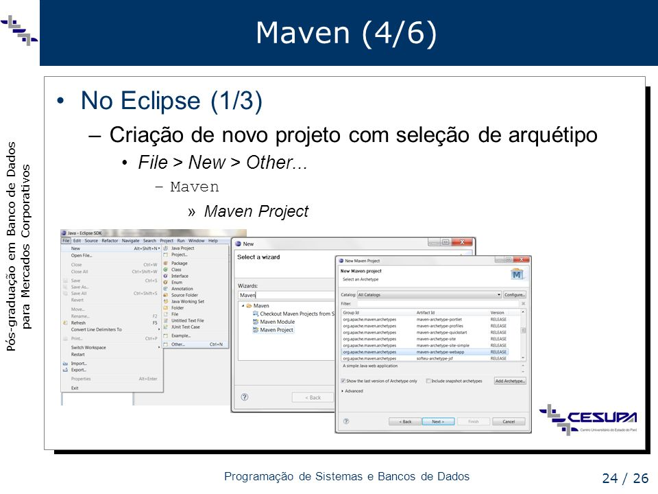 Maven (4/6) No Eclipse (1/3)