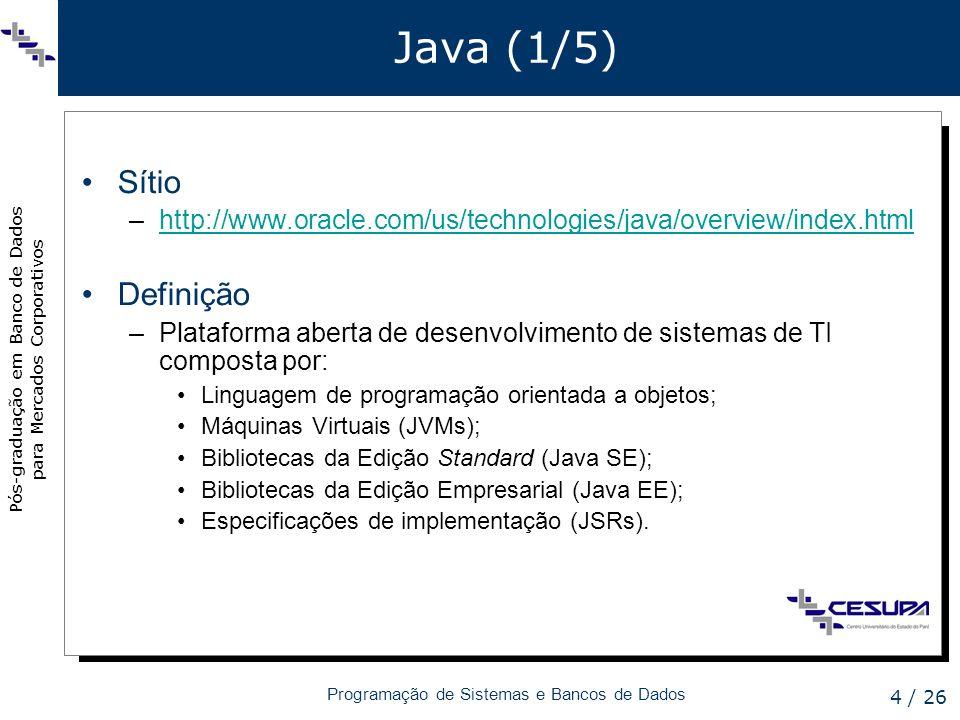 Java (1/5) Sítio Definição