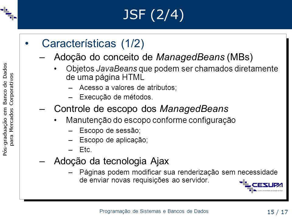 JSF (2/4) Características (1/2)