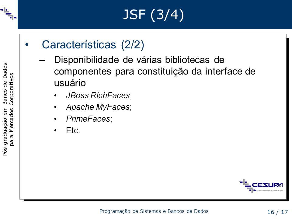 JSF (3/4) Características (2/2)