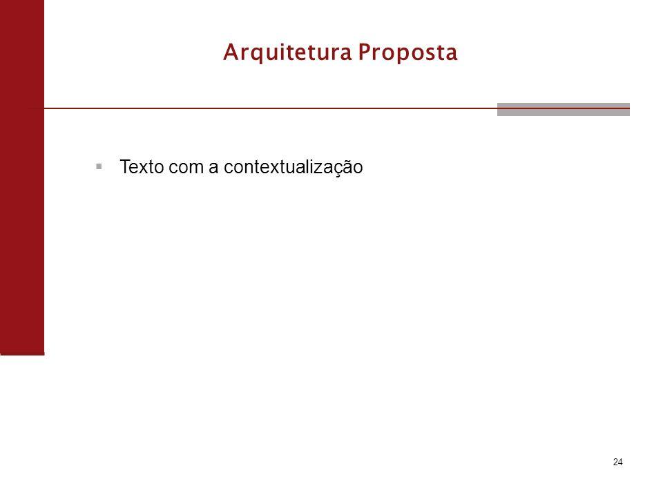 Arquitetura Proposta Texto com a contextualização