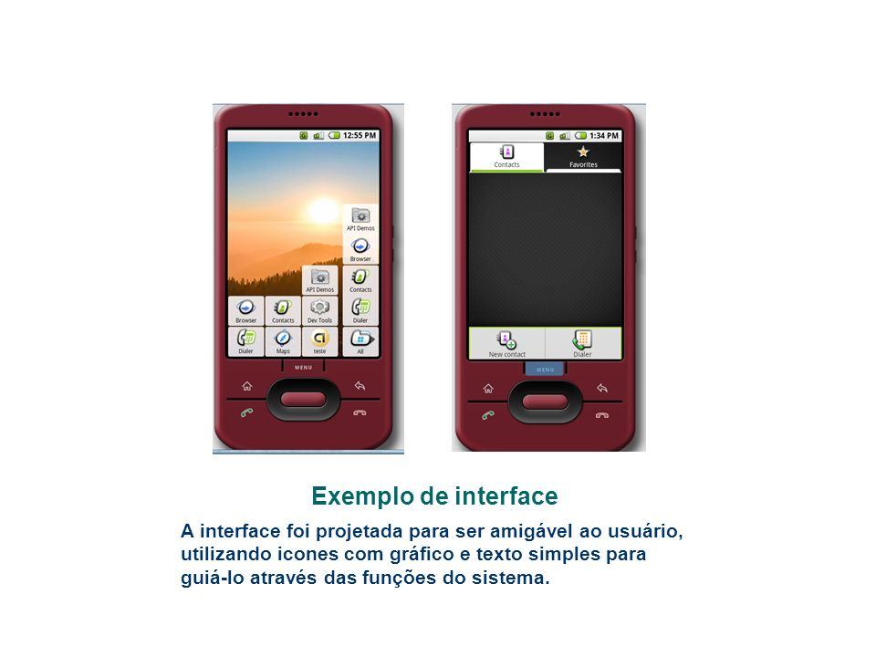 Exemplo de interface