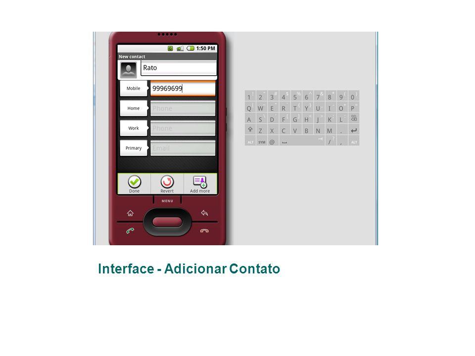 Interface - Adicionar Contato