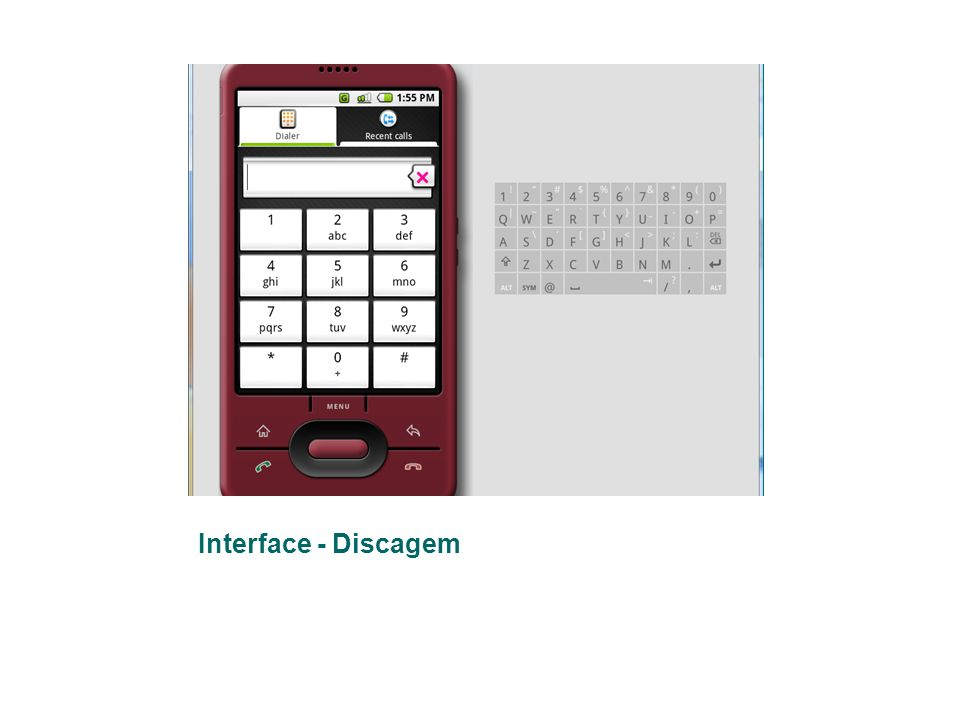 Interface - Discagem