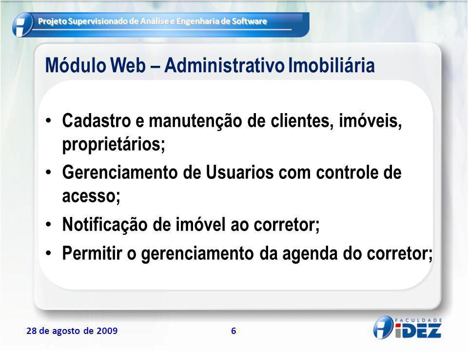 Módulo Web – Administrativo Imobiliária