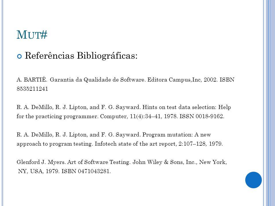 Mut# Referências Bibliográficas: