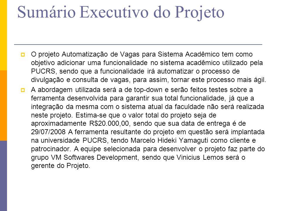 Sumário Executivo do Projeto