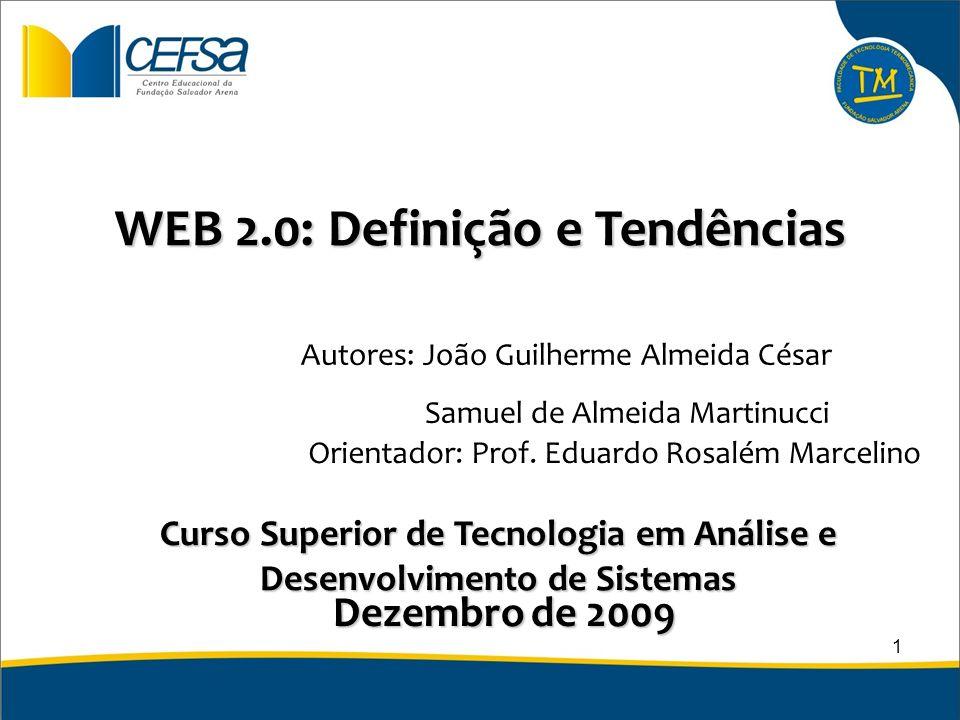 WEB 2.0: Definição e Tendências