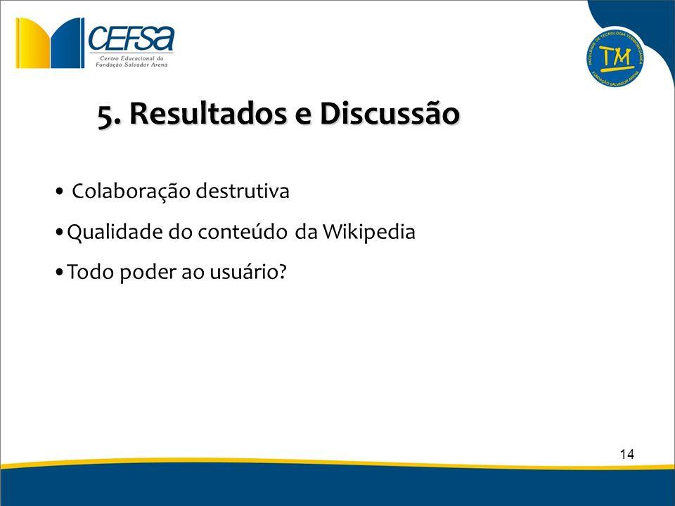 5. Resultados e Discussão