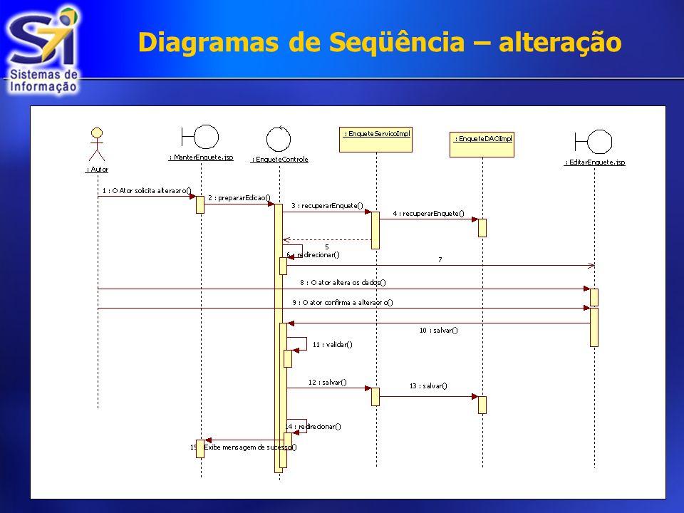 Diagramas de Seqüência – alteração