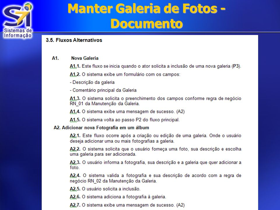 Manter Galeria de Fotos - Documento