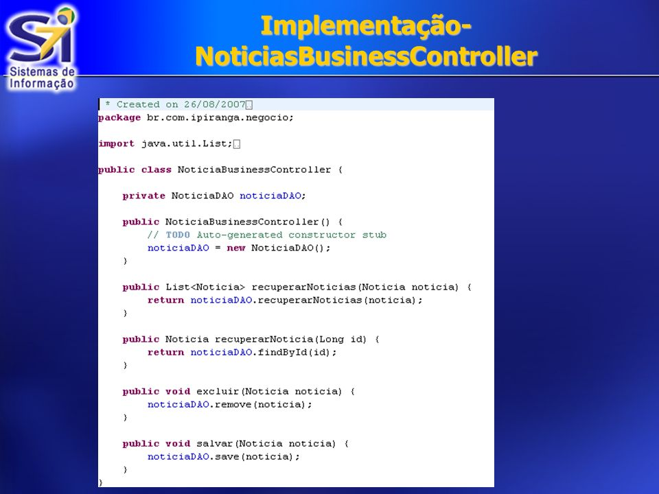 Implementação-NoticiasBusinessController