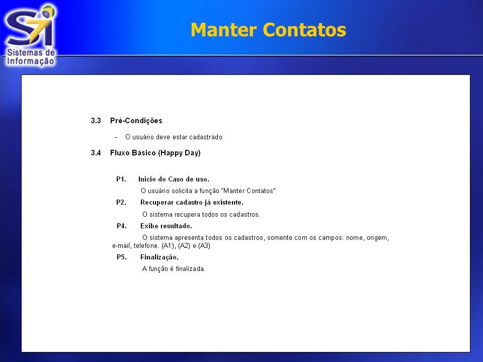 Manter Contatos €