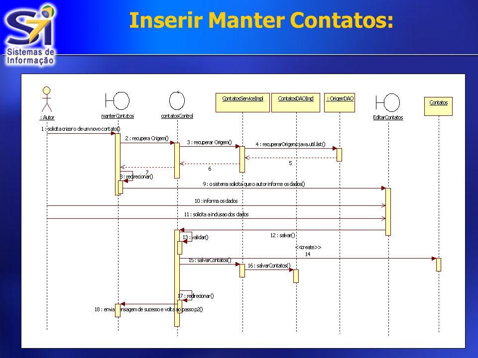 Inserir Manter Contatos: