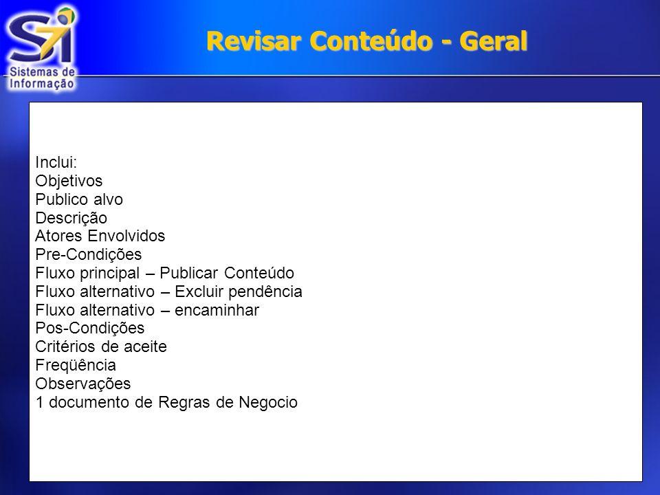 Revisar Conteúdo - Geral