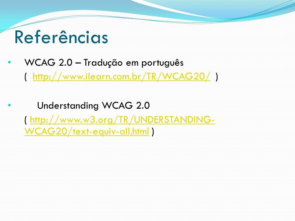 Referências WCAG 2.0 – Tradução em português