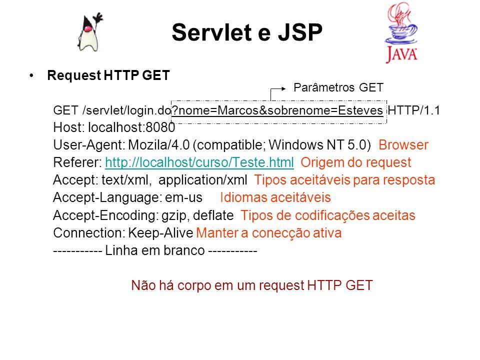 Não há corpo em um request HTTP GET