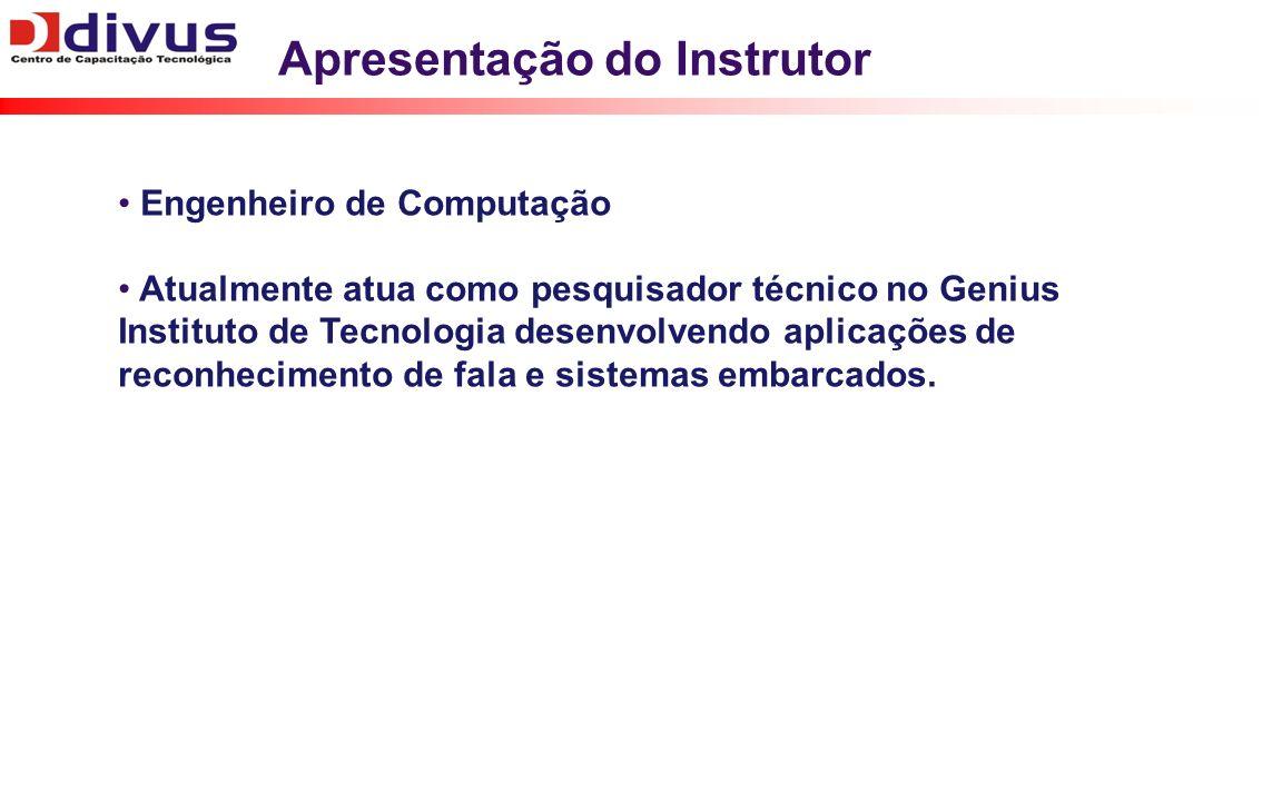 Apresentação do Instrutor