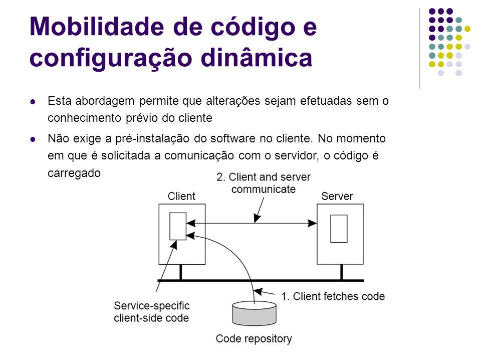 Mobilidade de código e configuração dinâmica