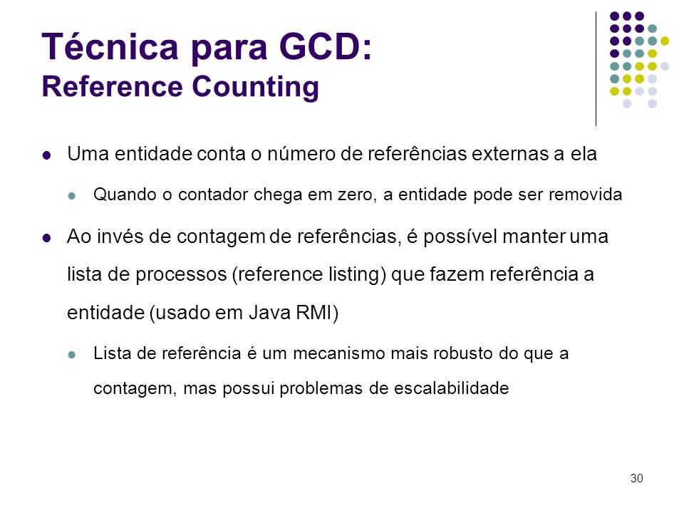 Técnica para GCD: Reference Counting