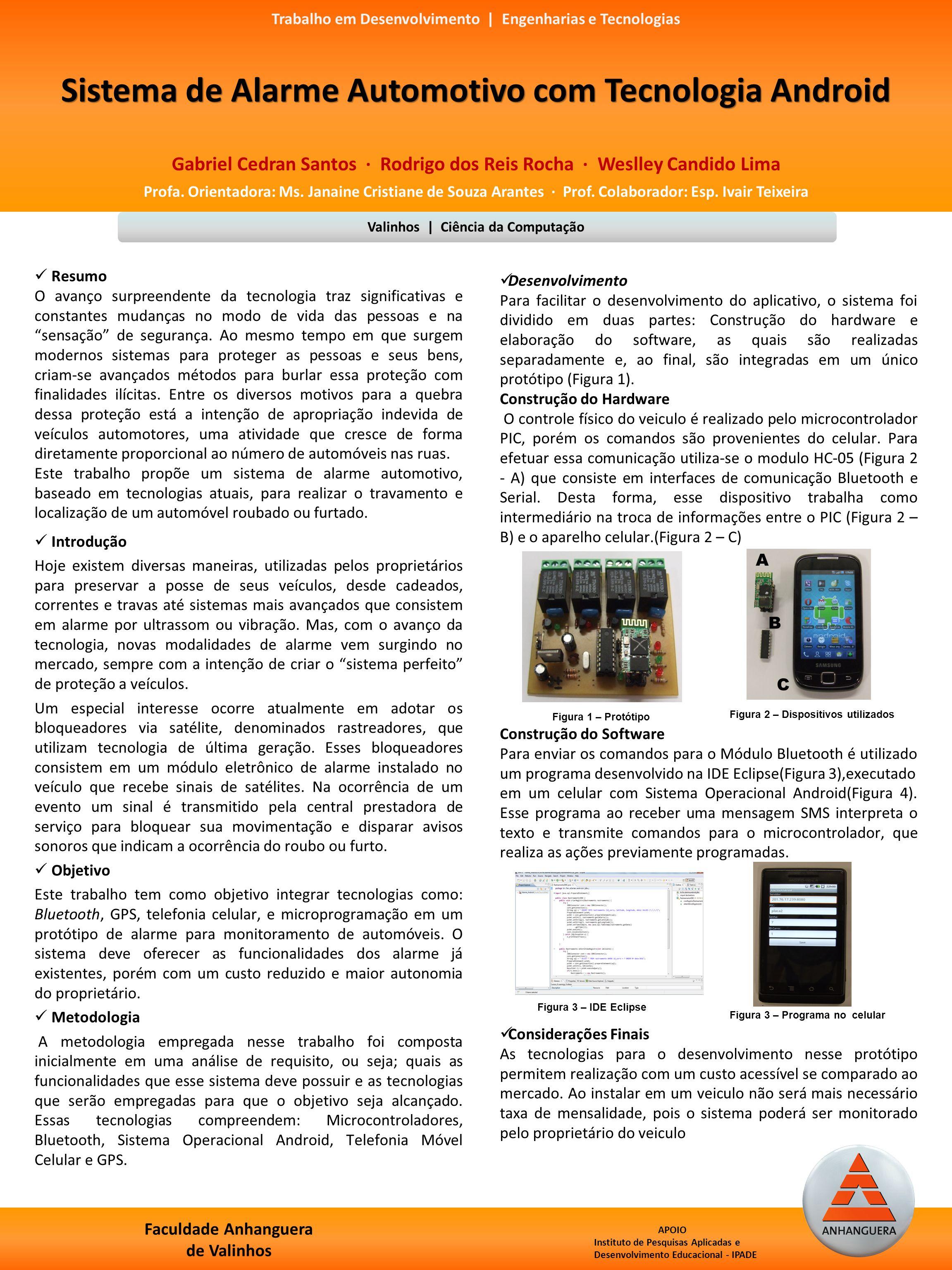 Sistema de Alarme Automotivo com Tecnologia Android