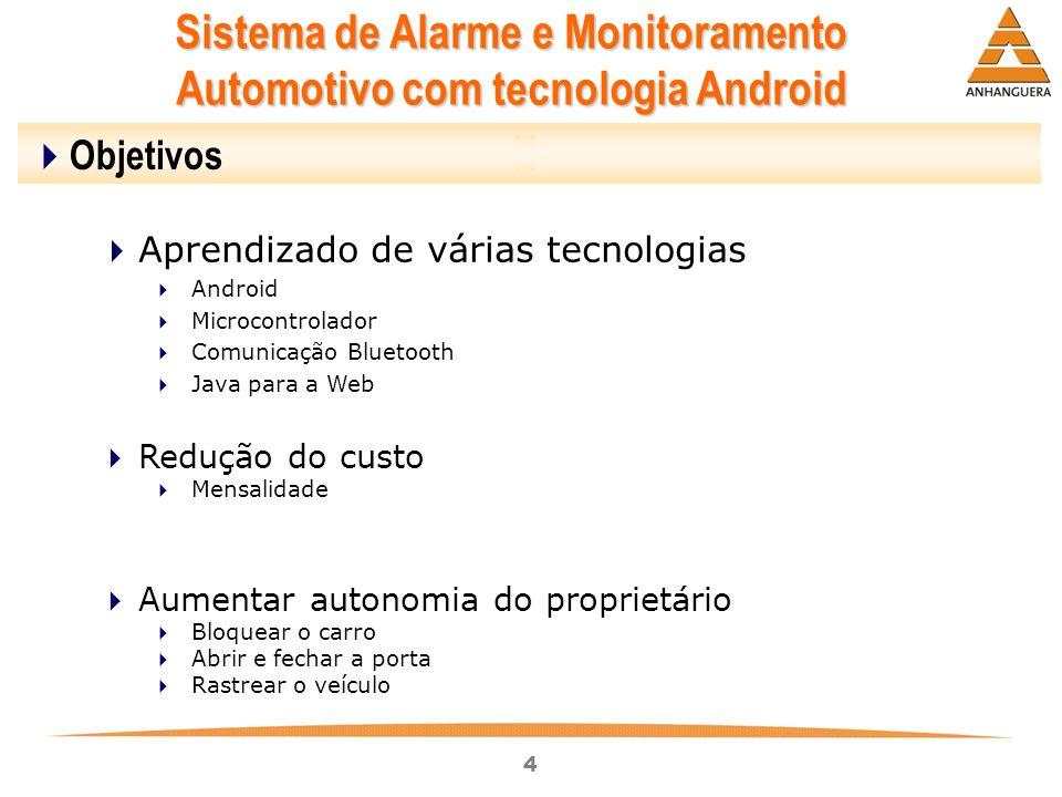 Sistema de Alarme e Monitoramento Automotivo com tecnologia Android