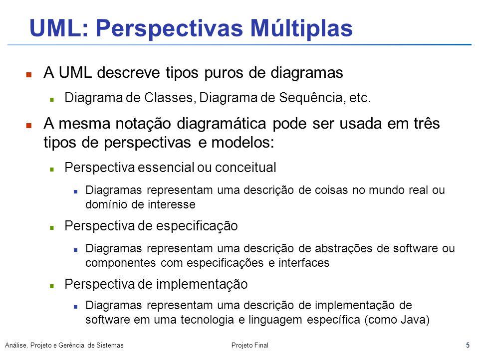UML: Perspectivas Múltiplas