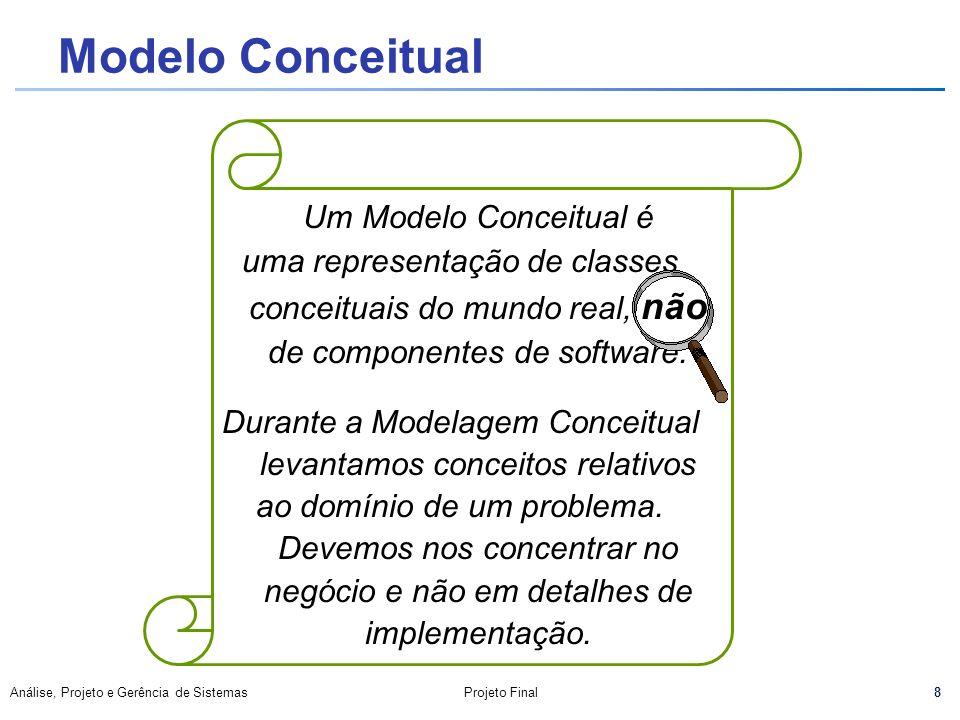 Durante a Modelagem Conceitual levantamos conceitos relativos