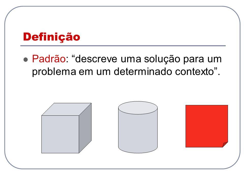 Definição Padrão: descreve uma solução para um problema em um determinado contexto .