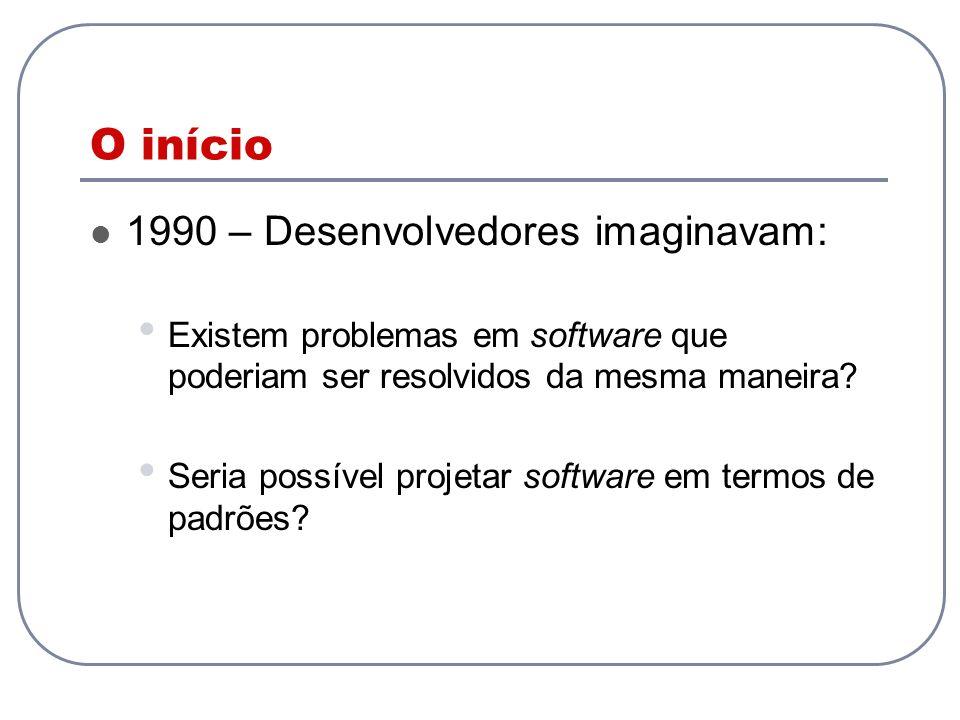 O início 1990 – Desenvolvedores imaginavam: