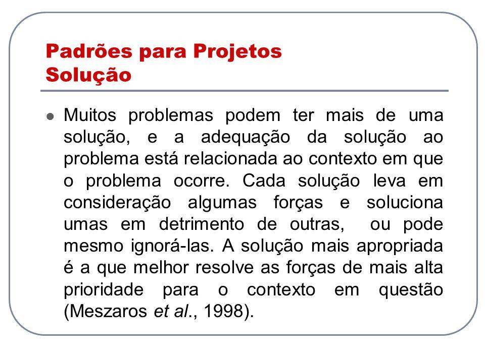 Padrões para Projetos Solução