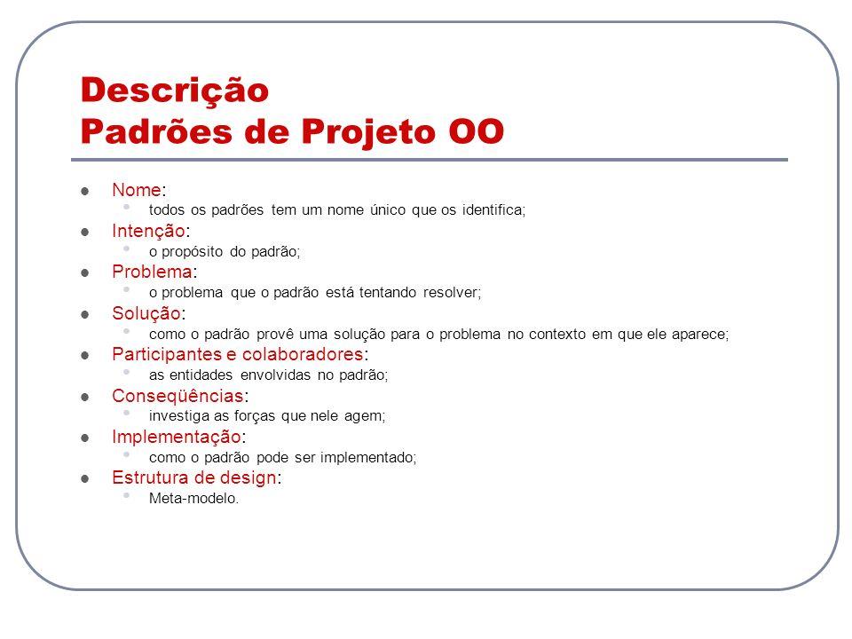 Descrição Padrões de Projeto OO