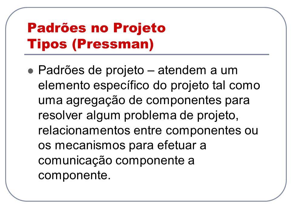 Padrões no Projeto Tipos (Pressman)