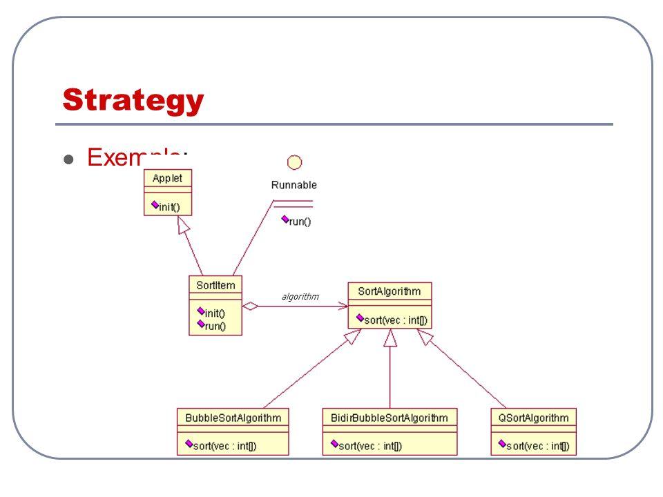 Strategy Exemplo: algorithm