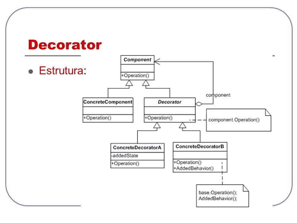 Decorator Estrutura: