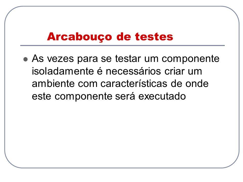Arcabouço de testes