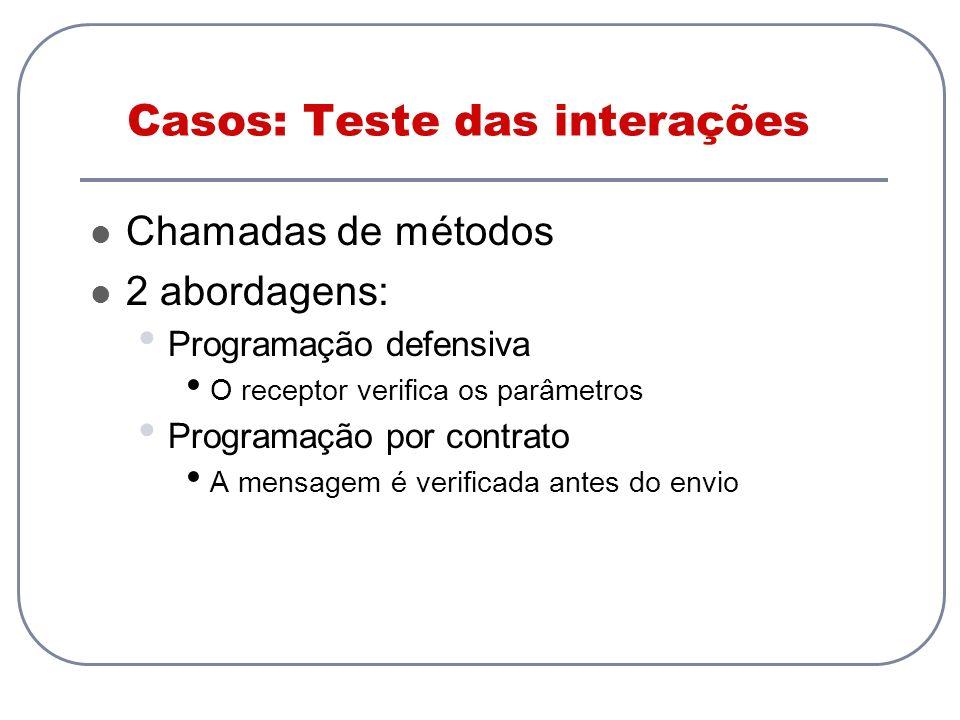 Casos: Teste das interações