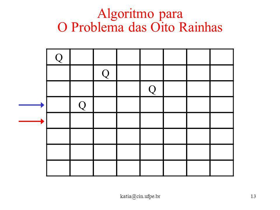 Algoritmo para O Problema das Oito Rainhas
