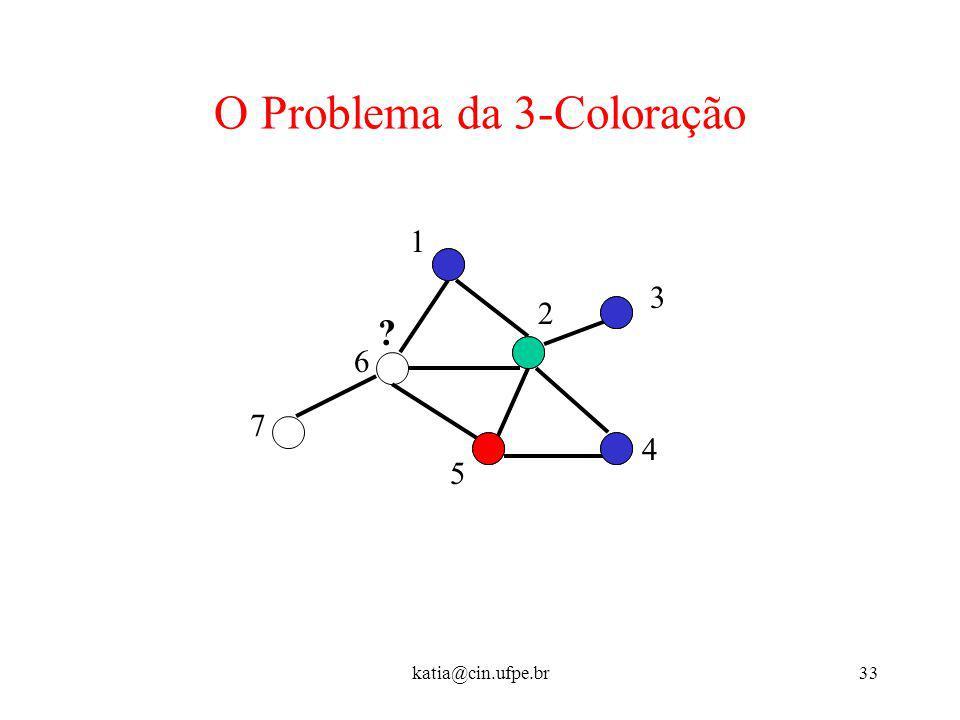 O Problema da 3-Coloração