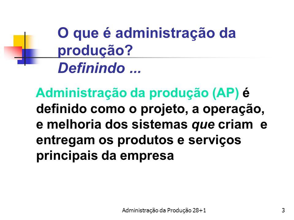 O que é administração da produção Definindo ...